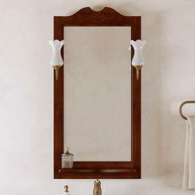 Зеркало с подсветкой Opadiris Клио 50 орех