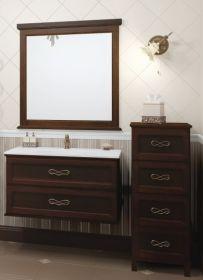 Комплект мебели для ванной Opadiris Гарда 90 орех