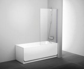 Шторка на ванну Ravak PVS1-80 L/R белый+транспарент