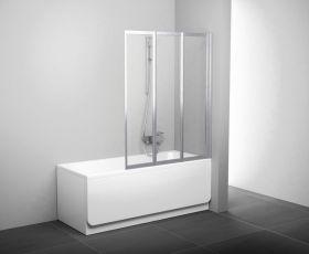 Шторка на ванну Ravak VS3-130 белая-транспарент