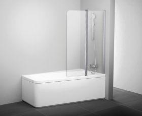 Шторка на ванну Ravak 10CVS2-100 L/R сатин+транспарент